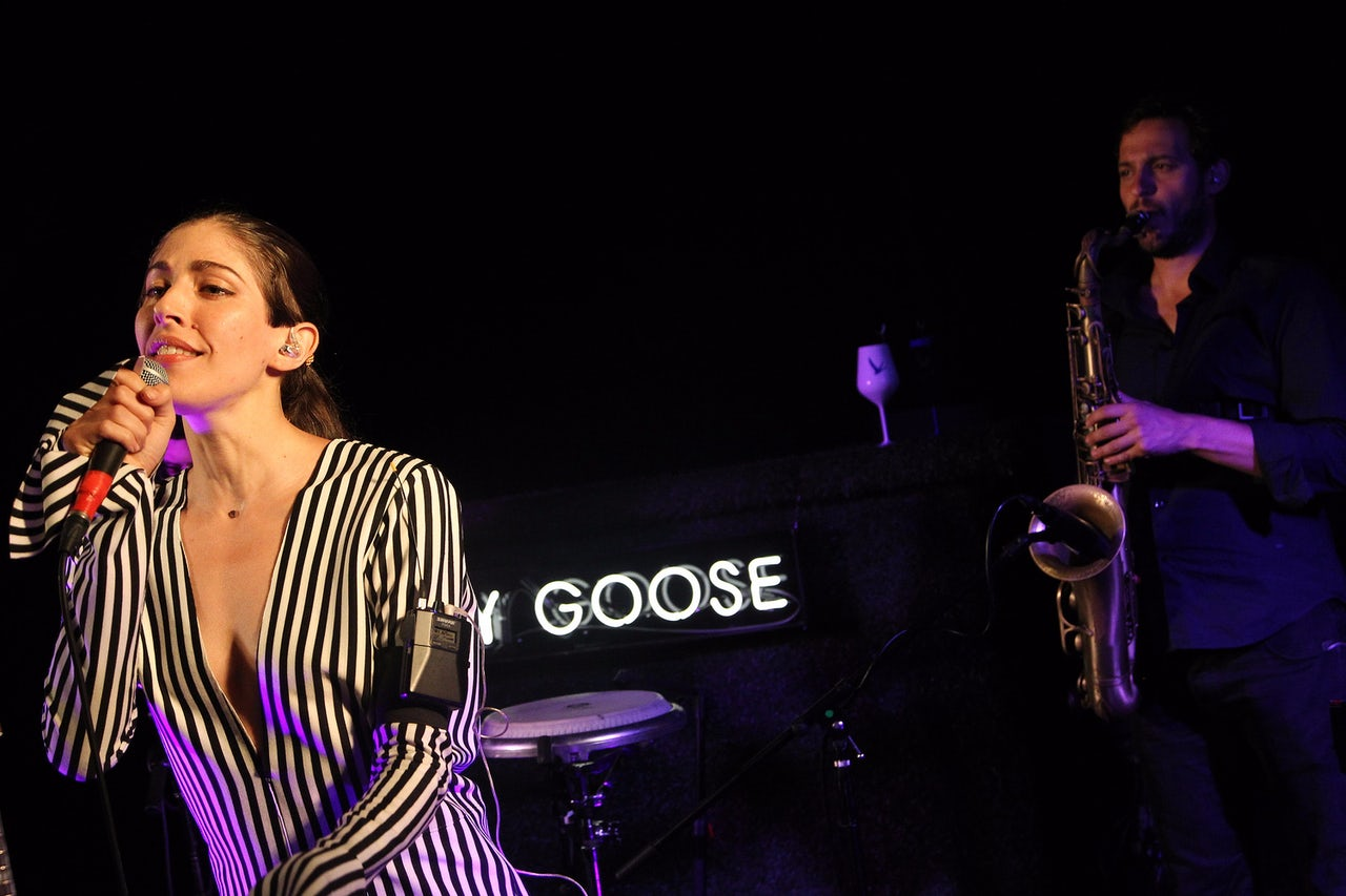 Caroline Polachek, seen here performing with Chairlift in 2016, sparked an online debate about festivals highlighting women after she dropped out of Moogfest last week.