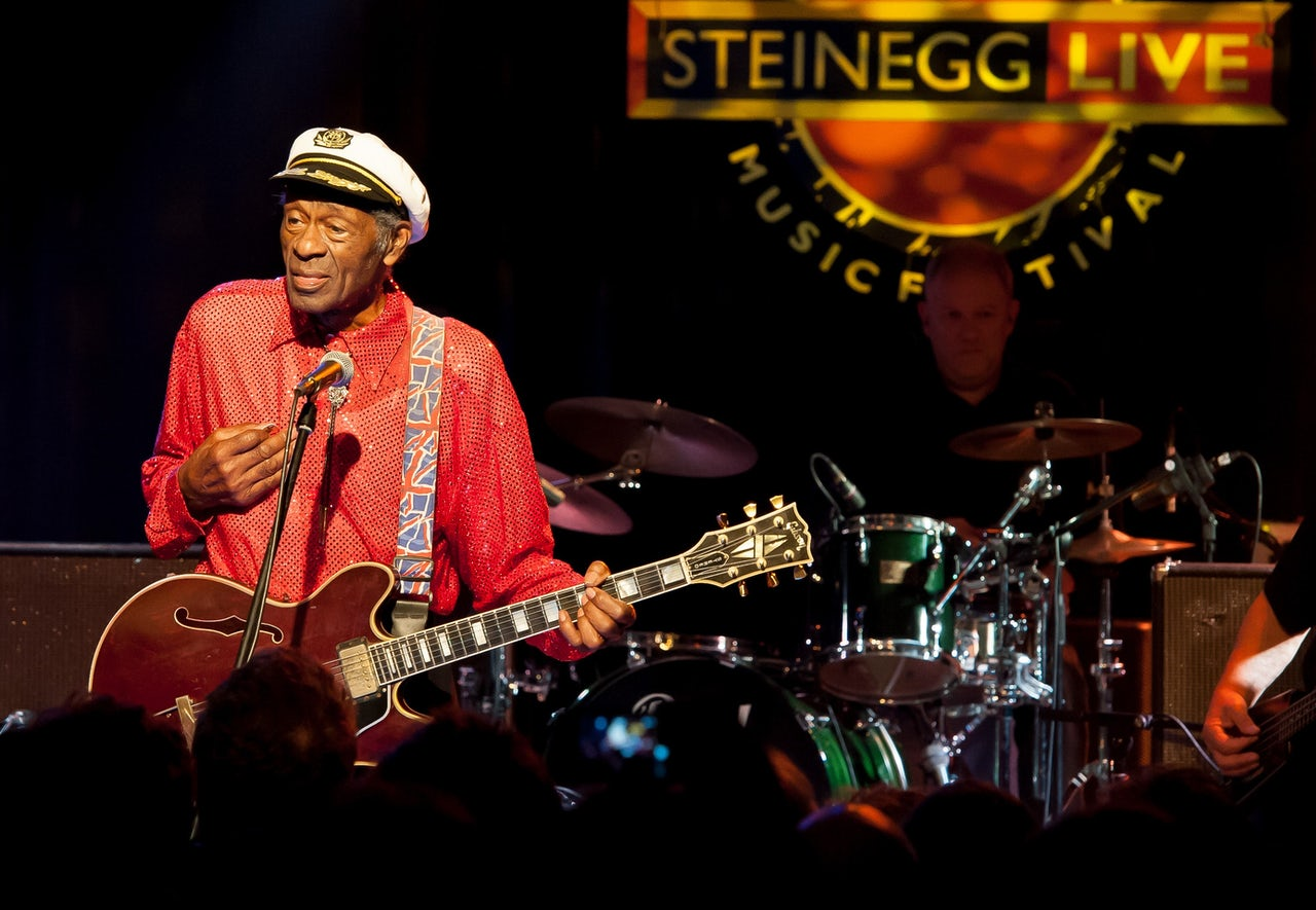 Chuck Berry performing at the Steinegg Live Festival in 2013.