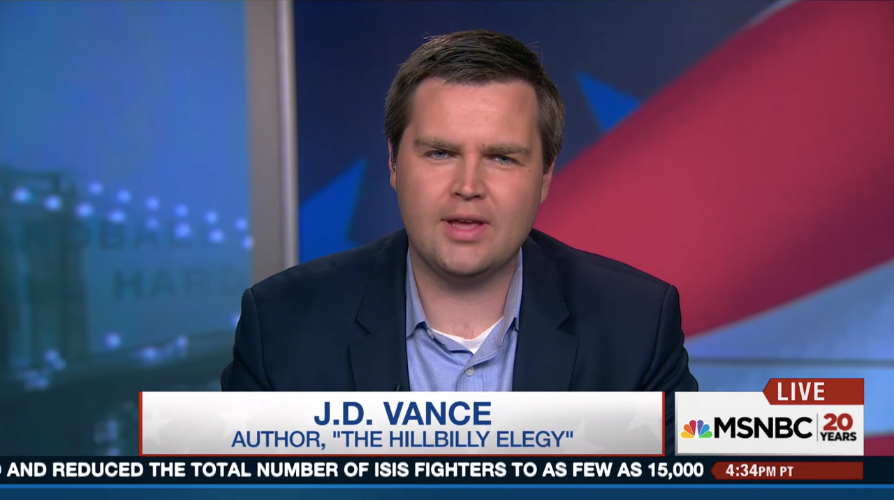Vance in an MSNBC segment called