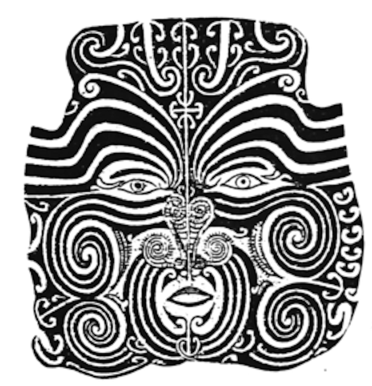 Self-portrait by Maori rangatira Te Pehi Kupe, circa 1826