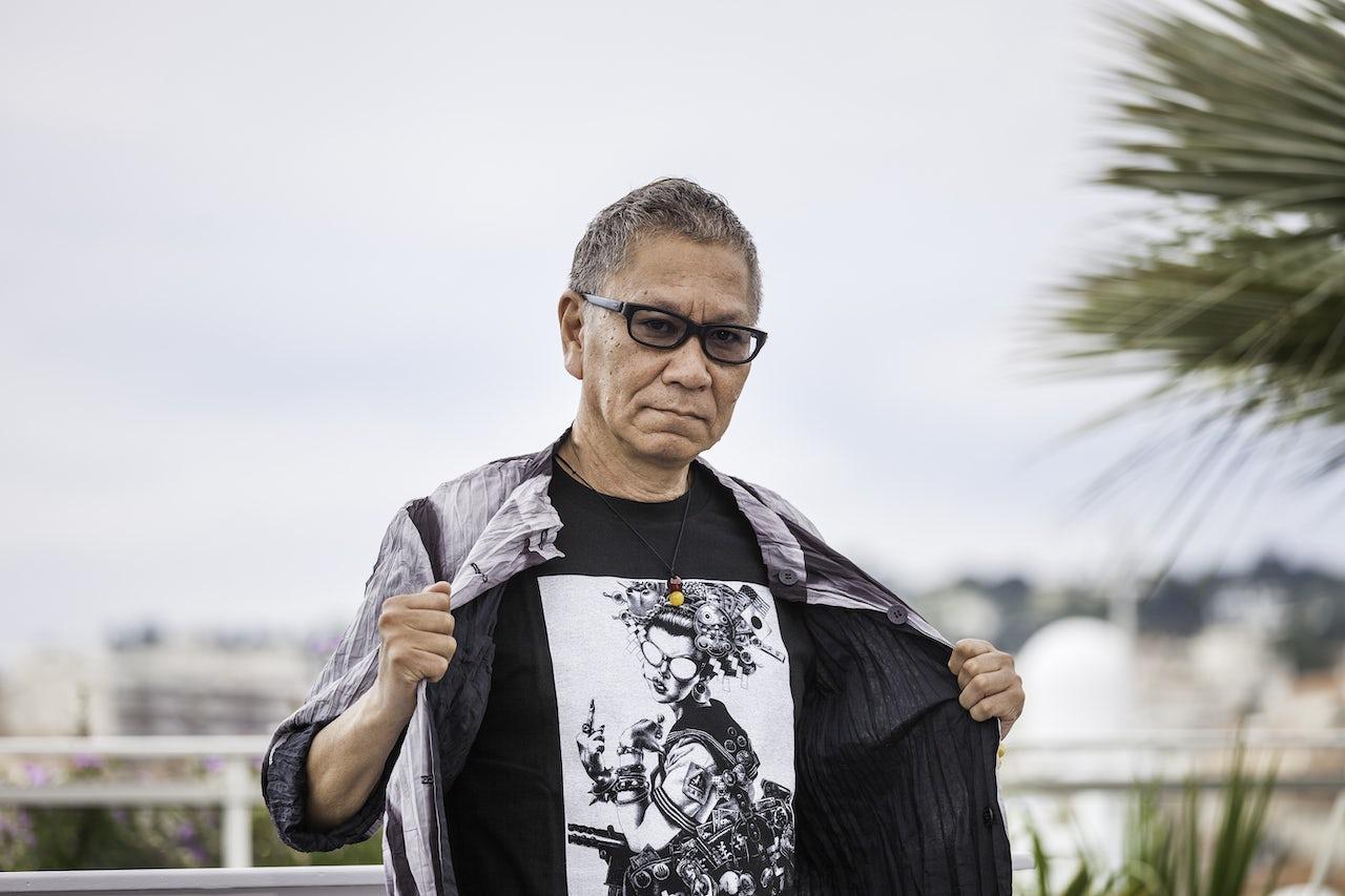 Takashi Miike at Cannes in 2017.