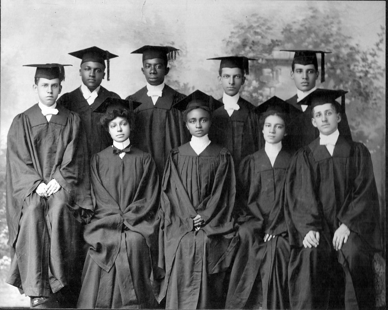 Atlanta University graduates in the early 1900s.