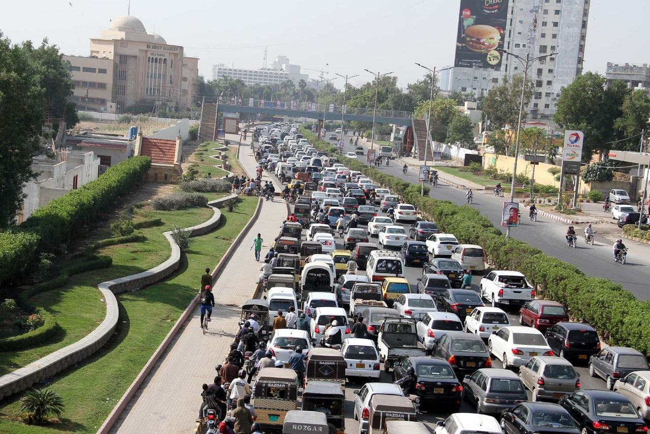 Karachi traffic.