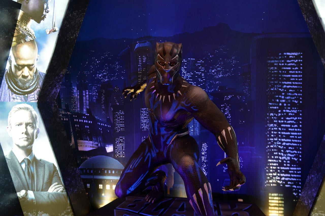 A Black Panther display.