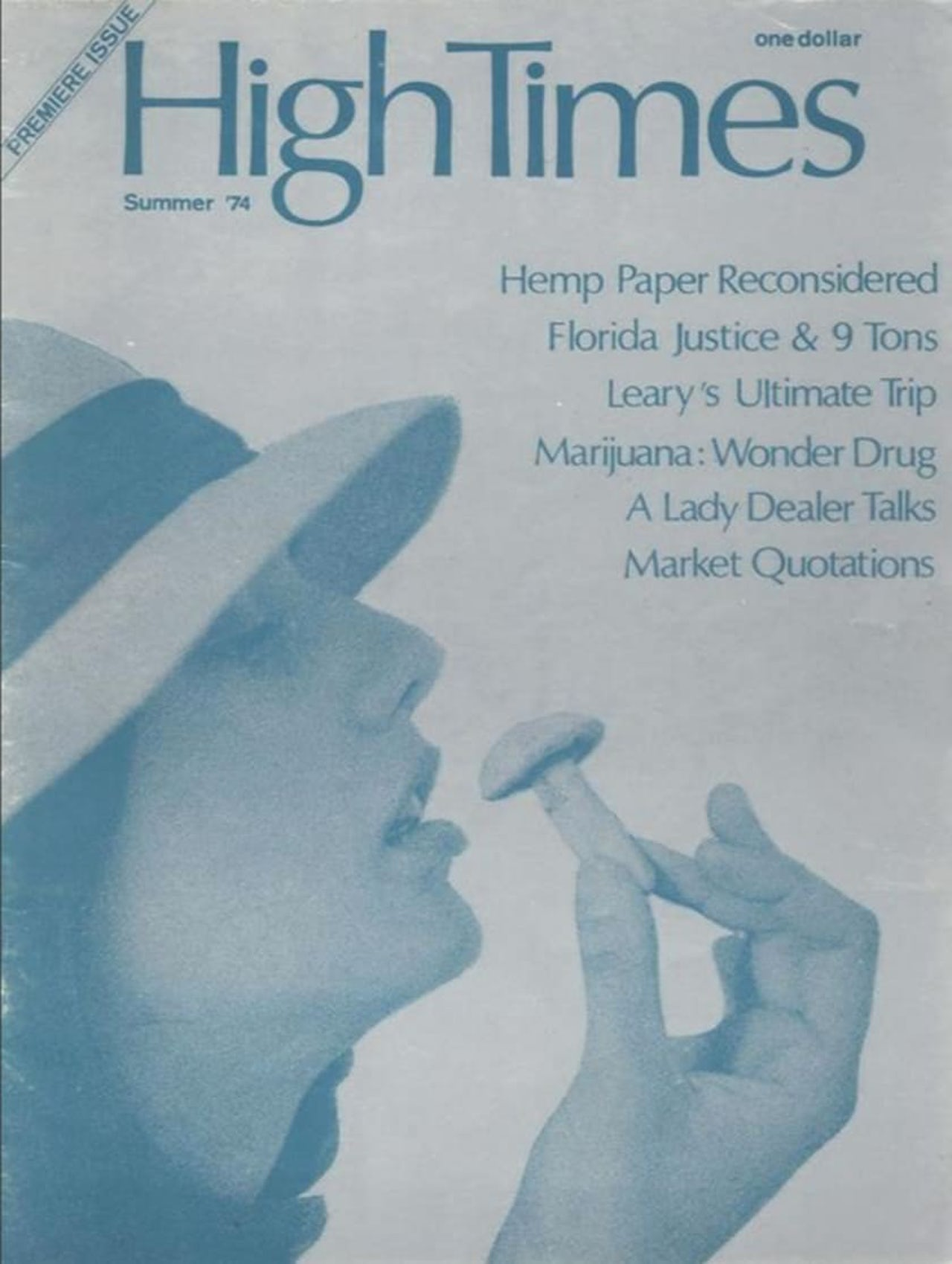The first issue of High Times.