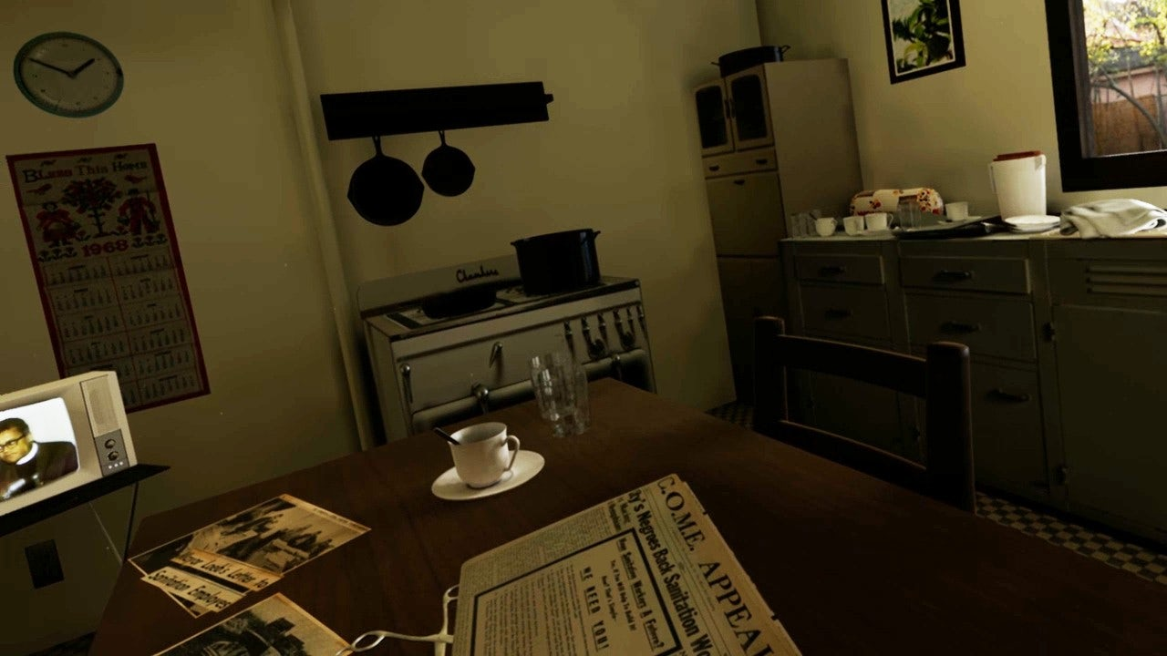 "The interior of the user's ""home"" in ""I Am A Man."""