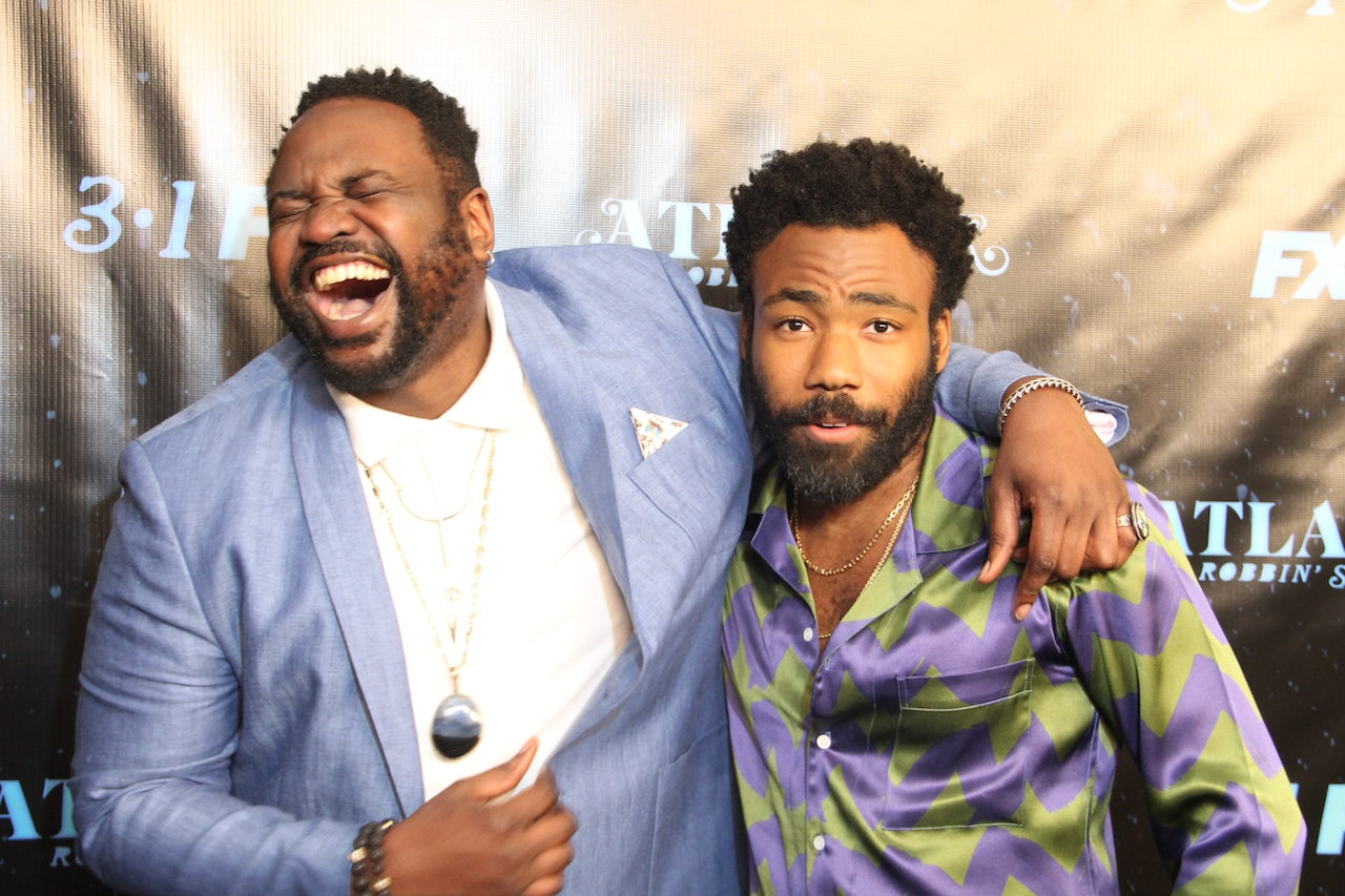 Donald Glover and Brian Tyree Henry at the Atlanta season two premiere in Atlanta.