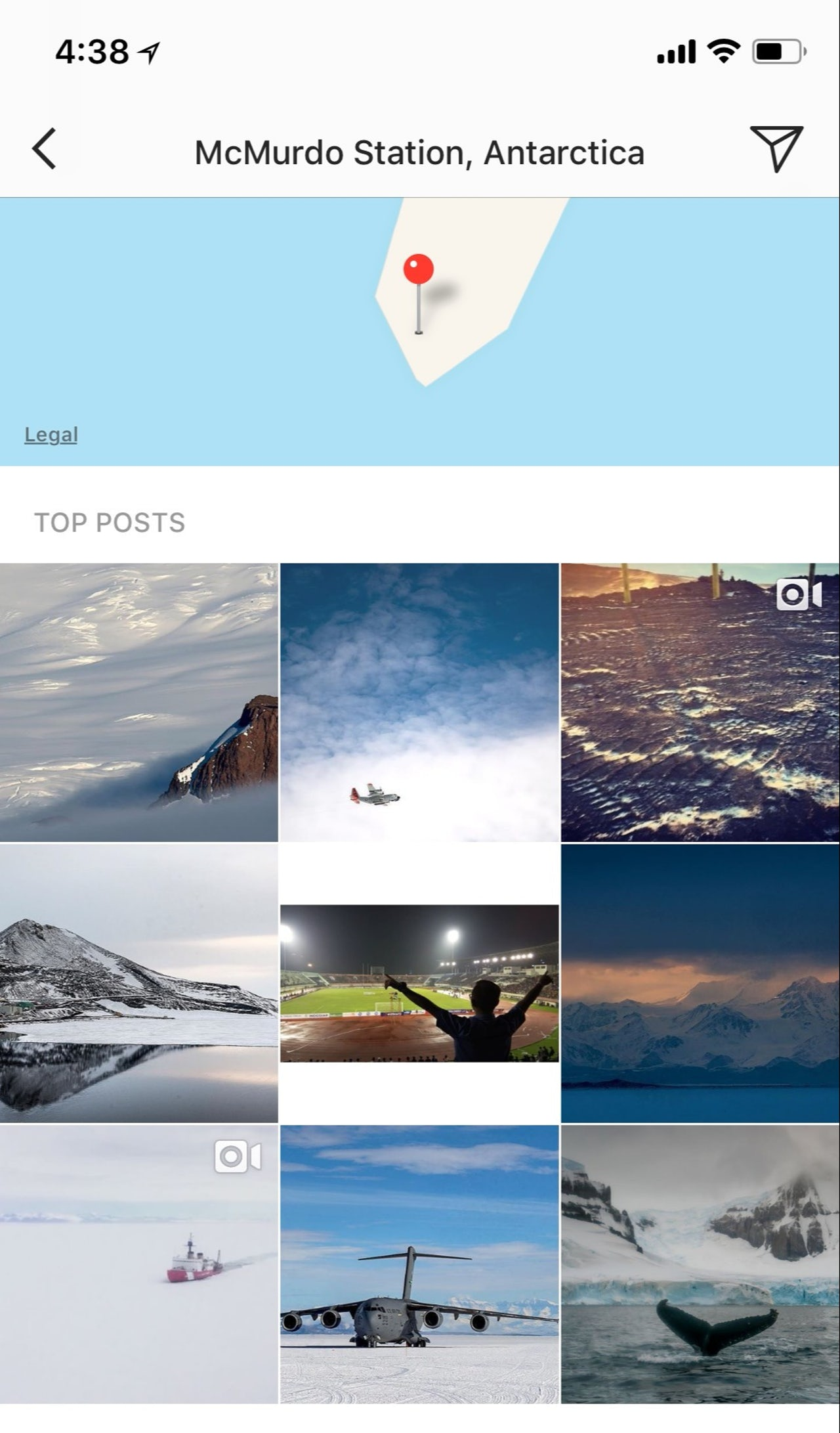 The top Instagram posts from McMurdo Station in Antarctica.