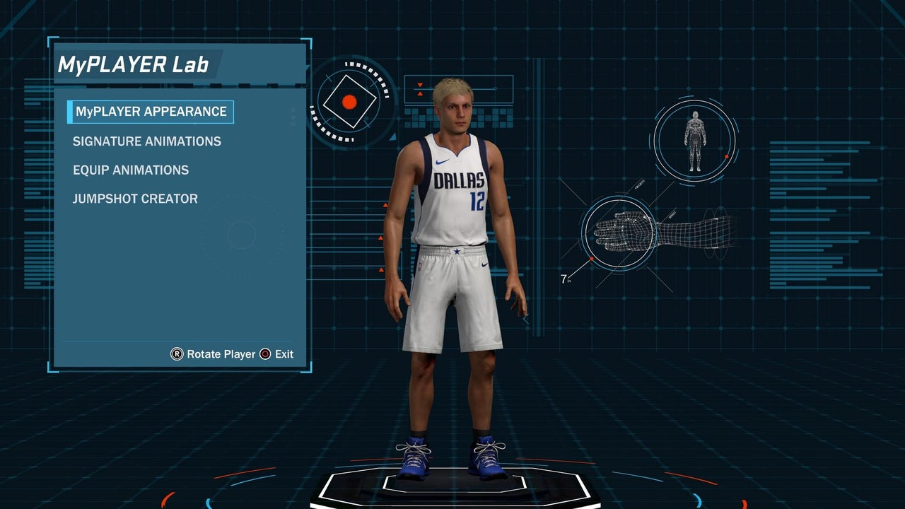 A player screen from the game NBA 2K.