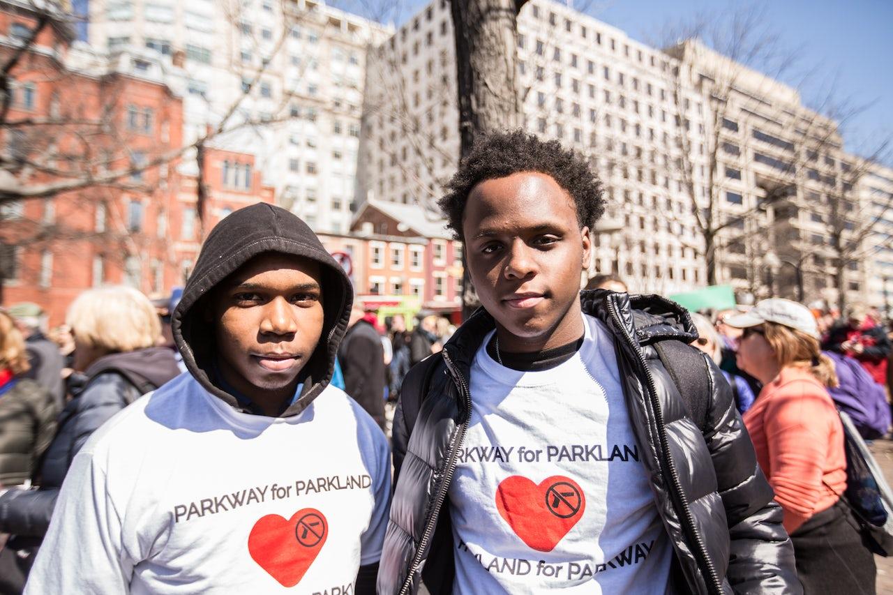 Omar Smith, 15, and Elijah Robinson, 15, from Philadelphia, PA