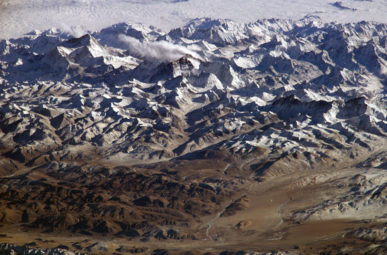 A region of the Himalayan Mountains, which is a part of the Tibetan Plateau.
