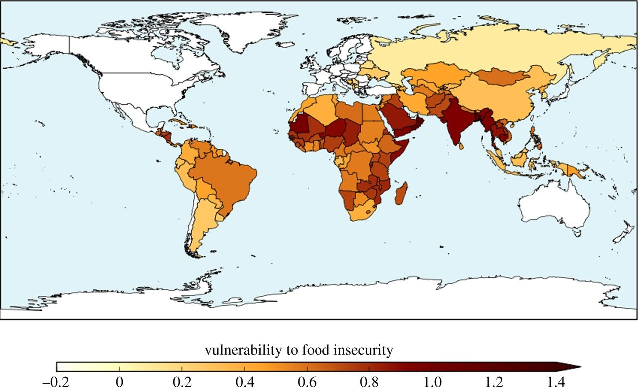 How much of the world will be hungry if the earth warms 1.5 degrees Celsius.