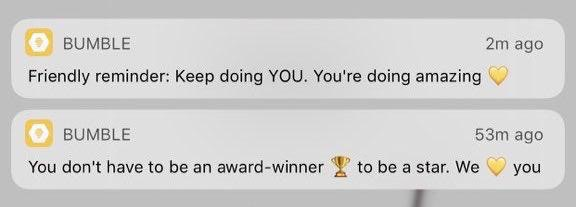 Bumble notifications