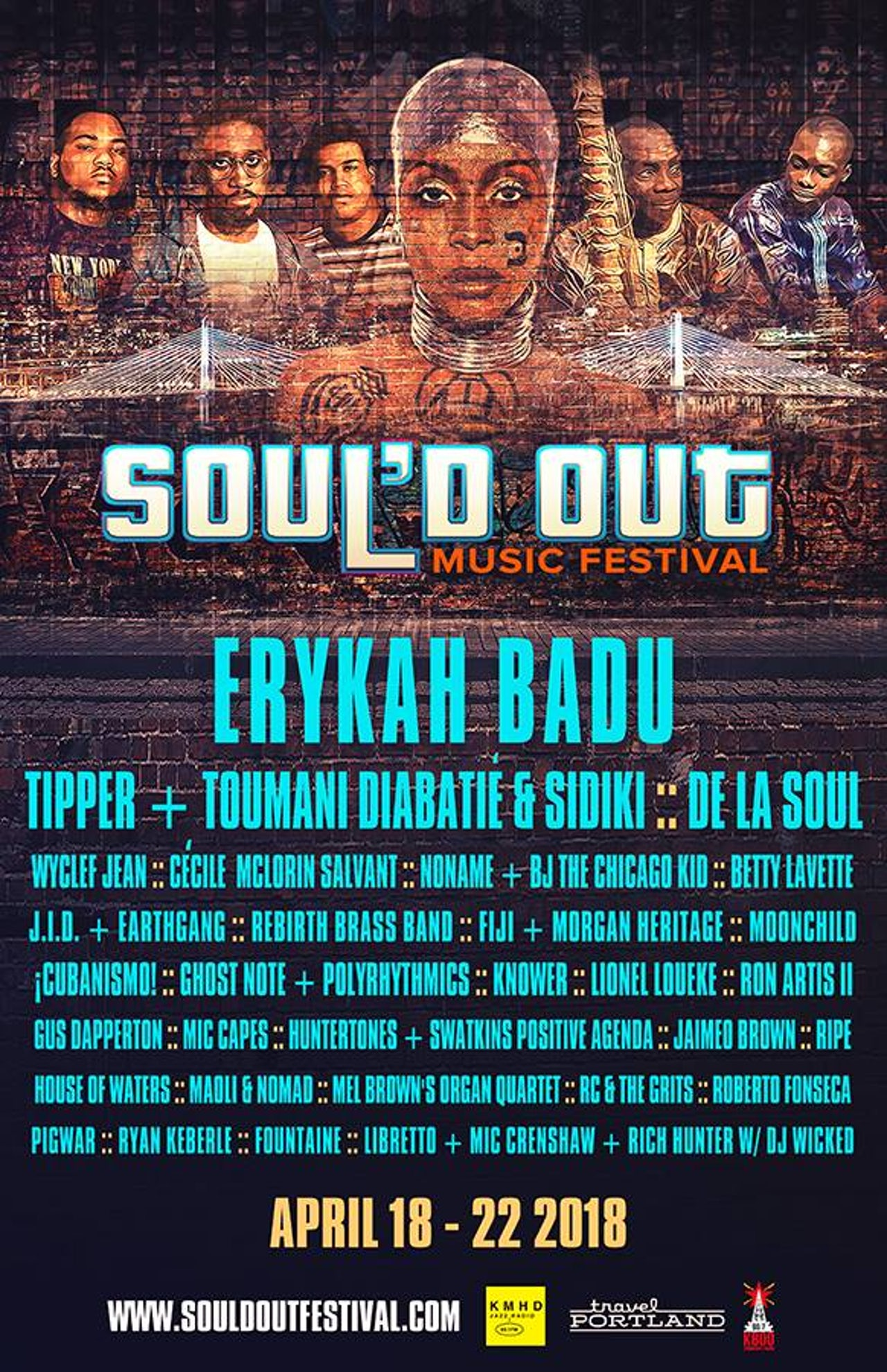 A poster for the 2018 Soul'd Out Festival, occurring over 1,000 miles away from Coachella.