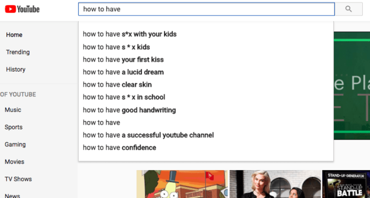 How to have... YouTube search results