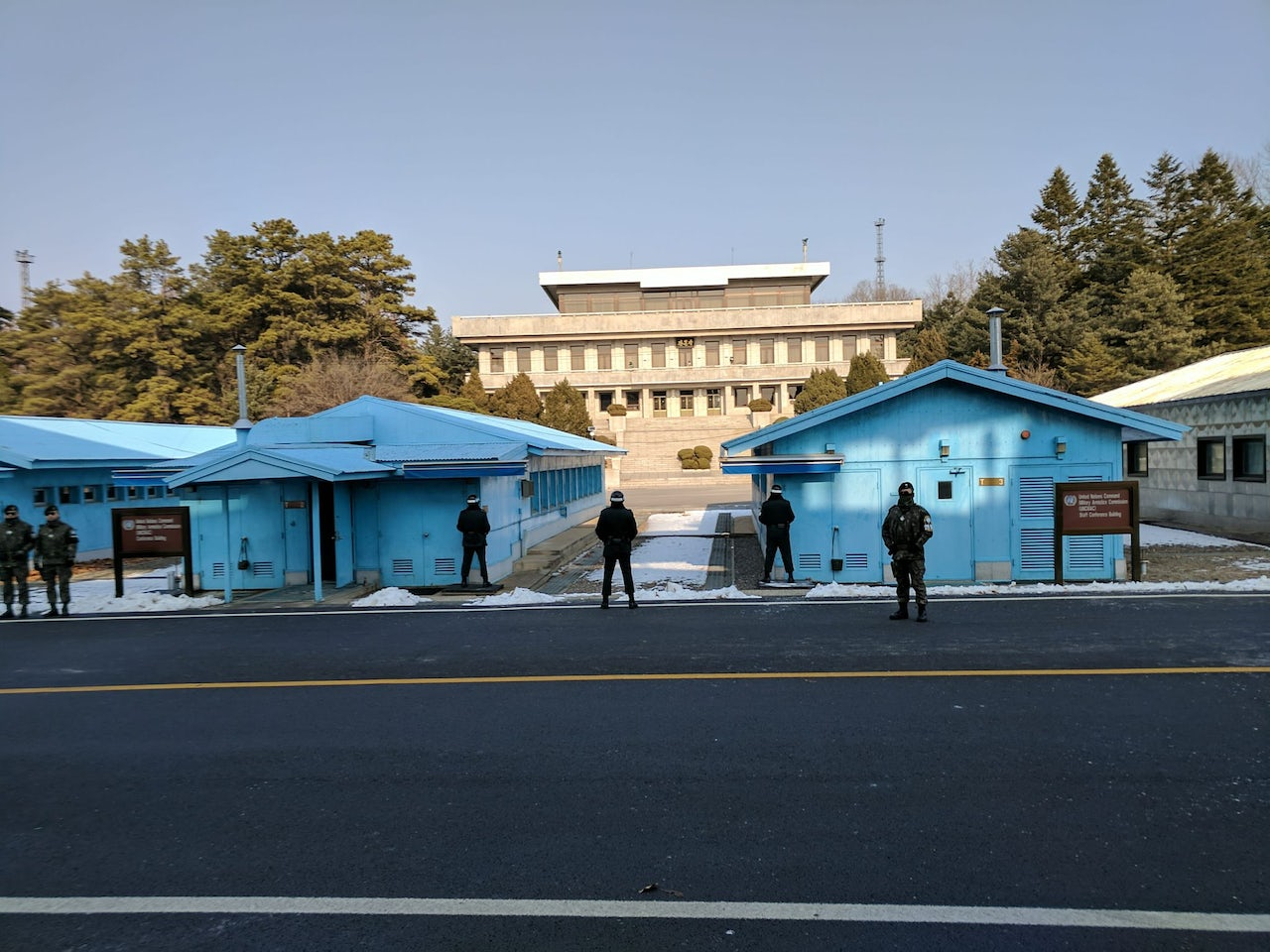 South Korean soldiers at the Korean Demilitarized Zone