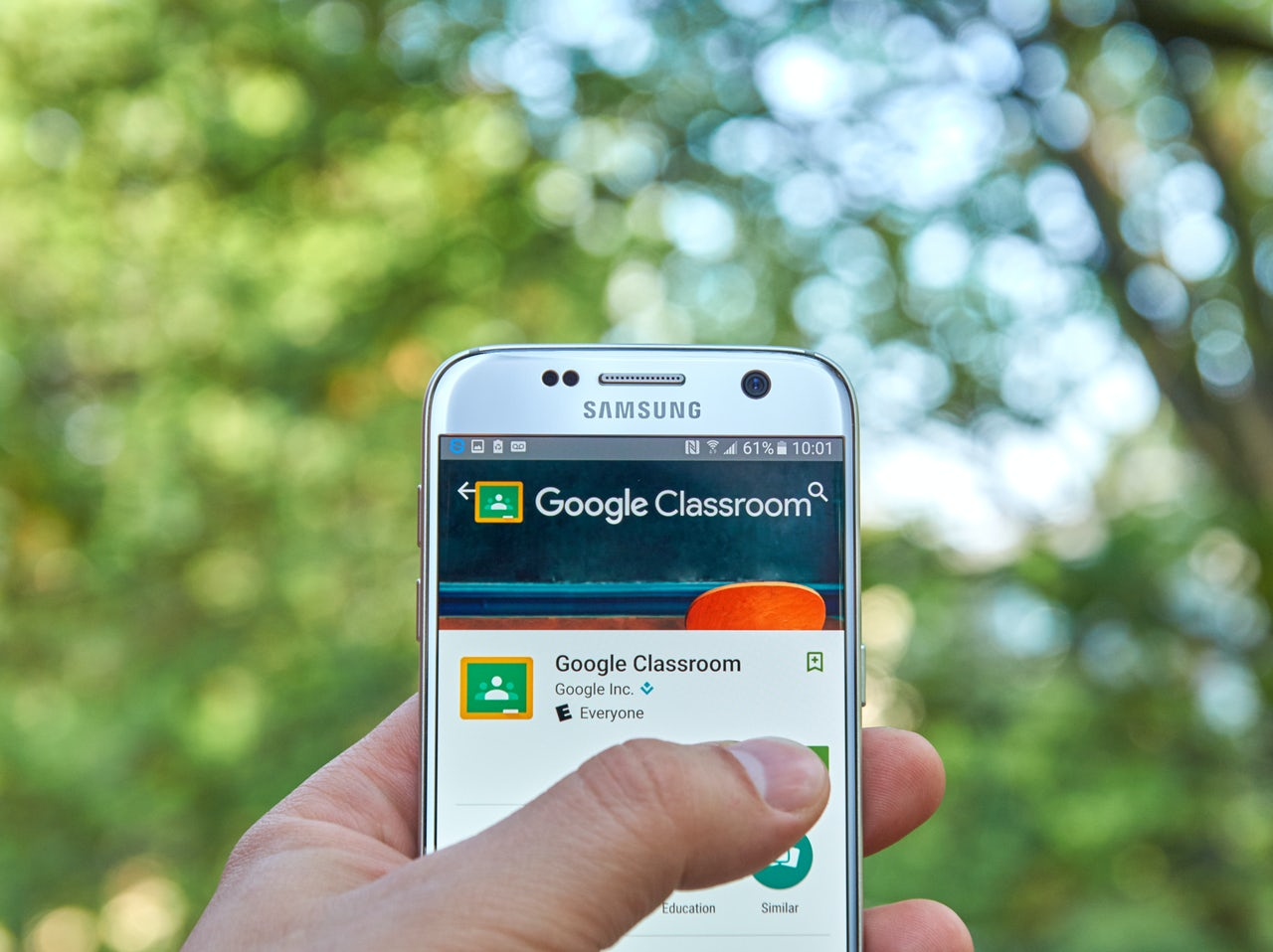 The Google Classroom app makes teachers' and administrations' lives very easy, but give Google a lot of access to kids who then can't learn not to trust it.