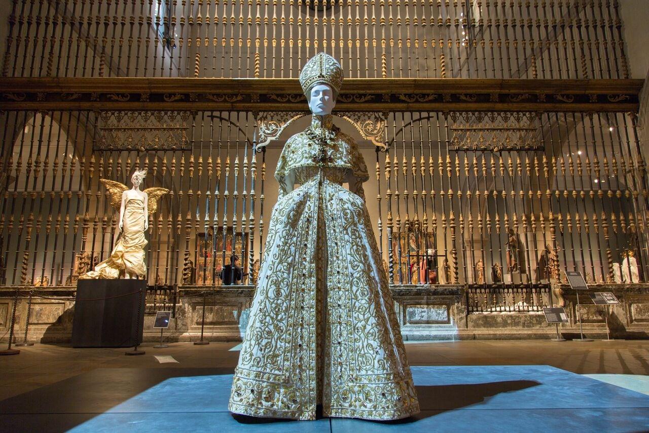 A display at the Met's Heavenly Bodies exhibit.