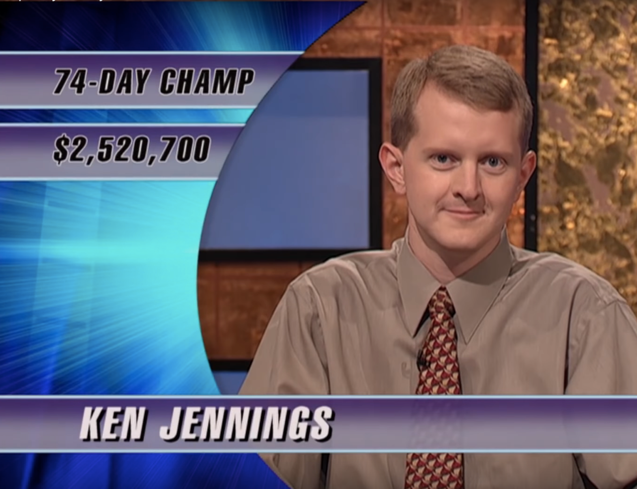 Jennings, relatively early on in his 'Jeopardy!' run.