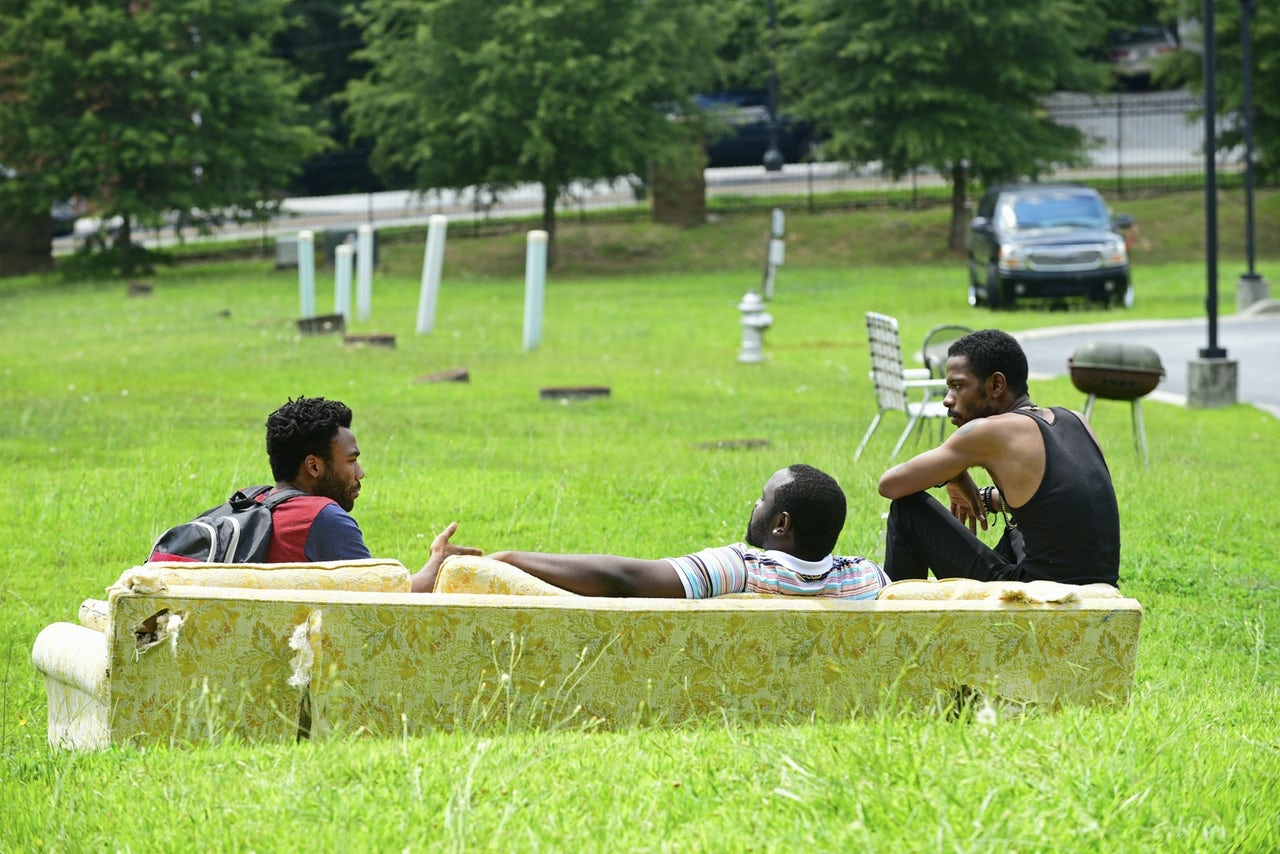 A scene from the series pilot for Atlanta.