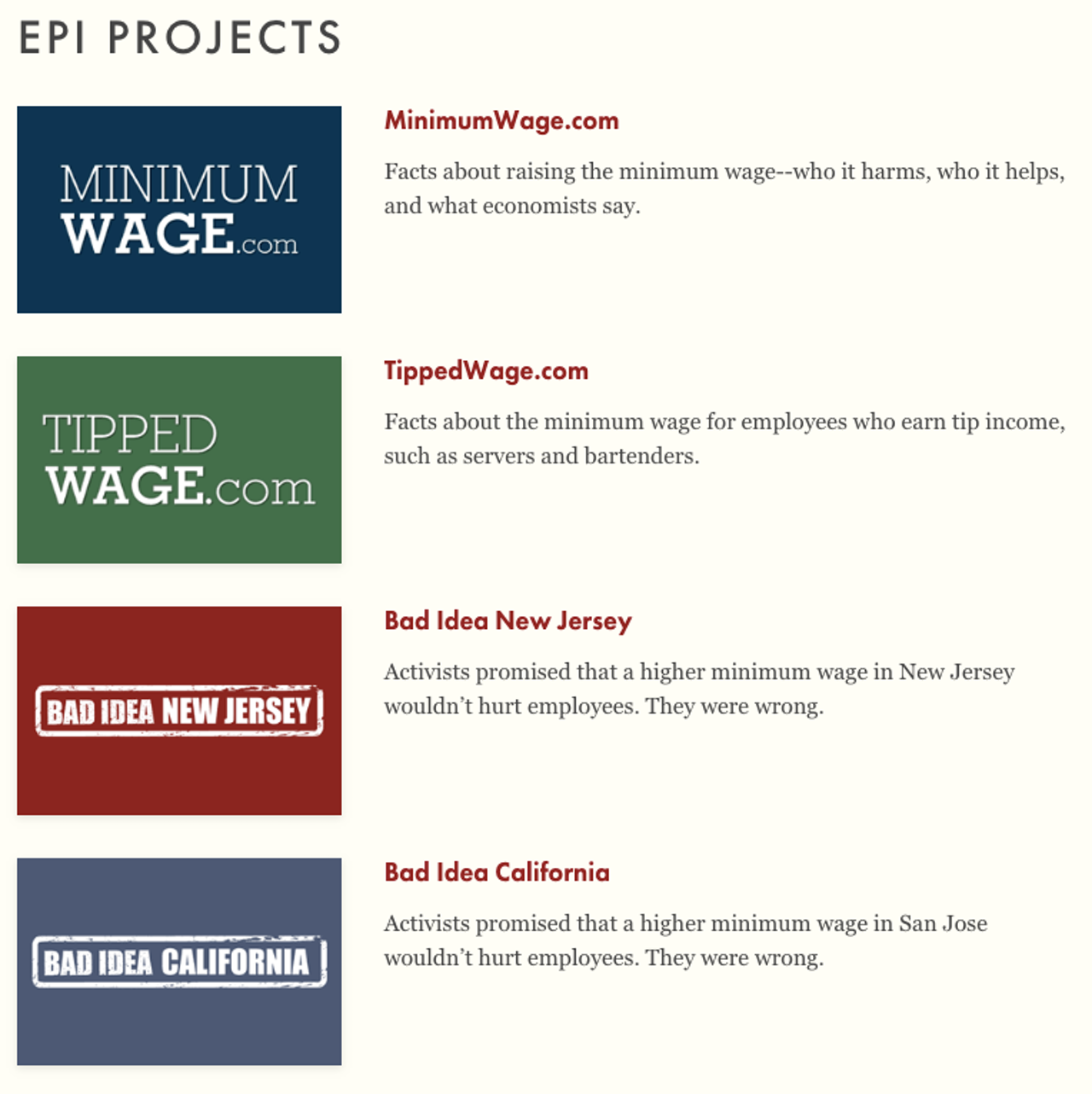 A collection of Berman's Employment Policies Institute projects.