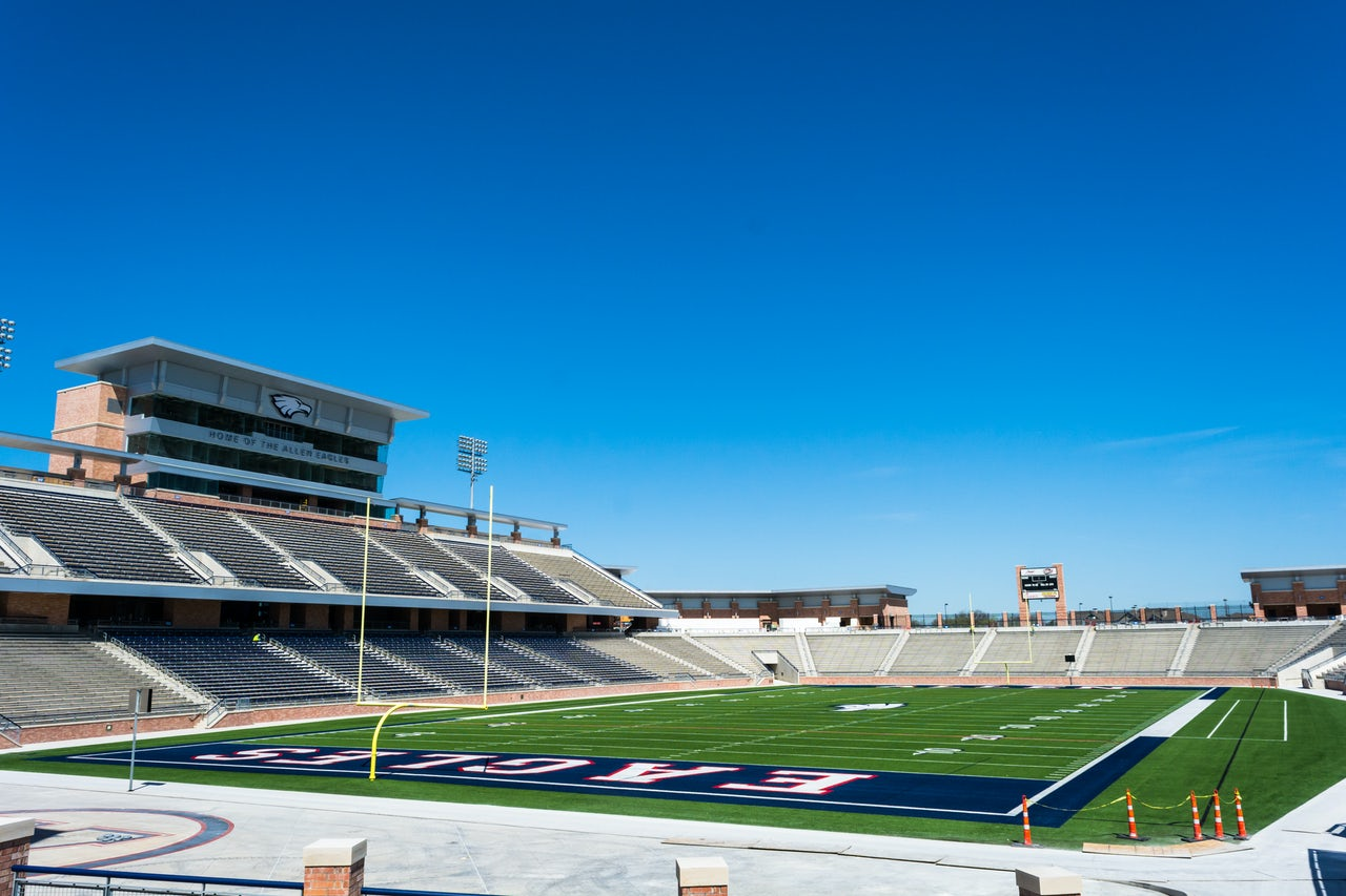 Eagle Stadium in Allen, Texas, 2015.