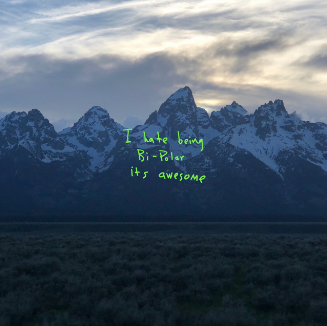 The cover of Kanye West's album 'Ye'.