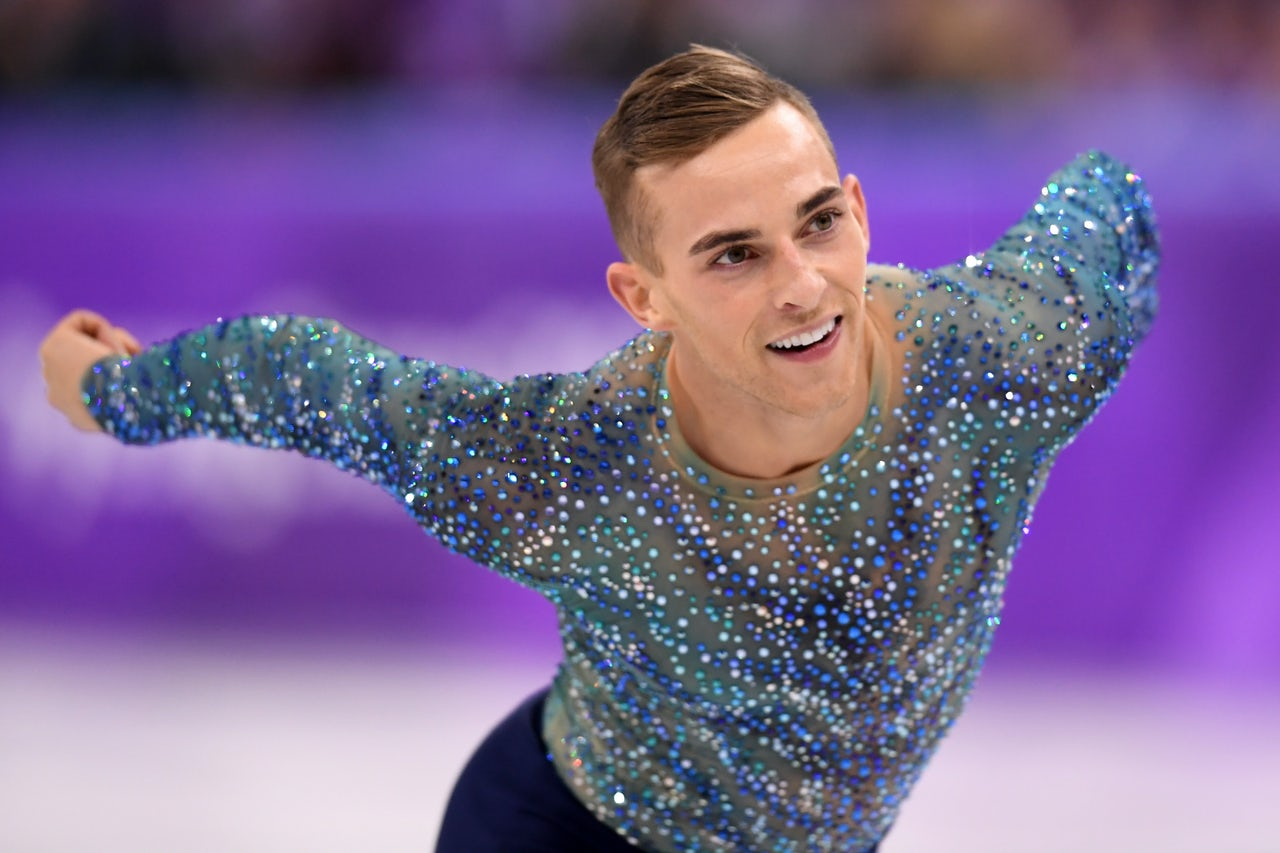 Adam Rippon of the United States skating the Men's Single Free Program at the PyeongChang 2018 Winter Olympic Games, February 17, 2018