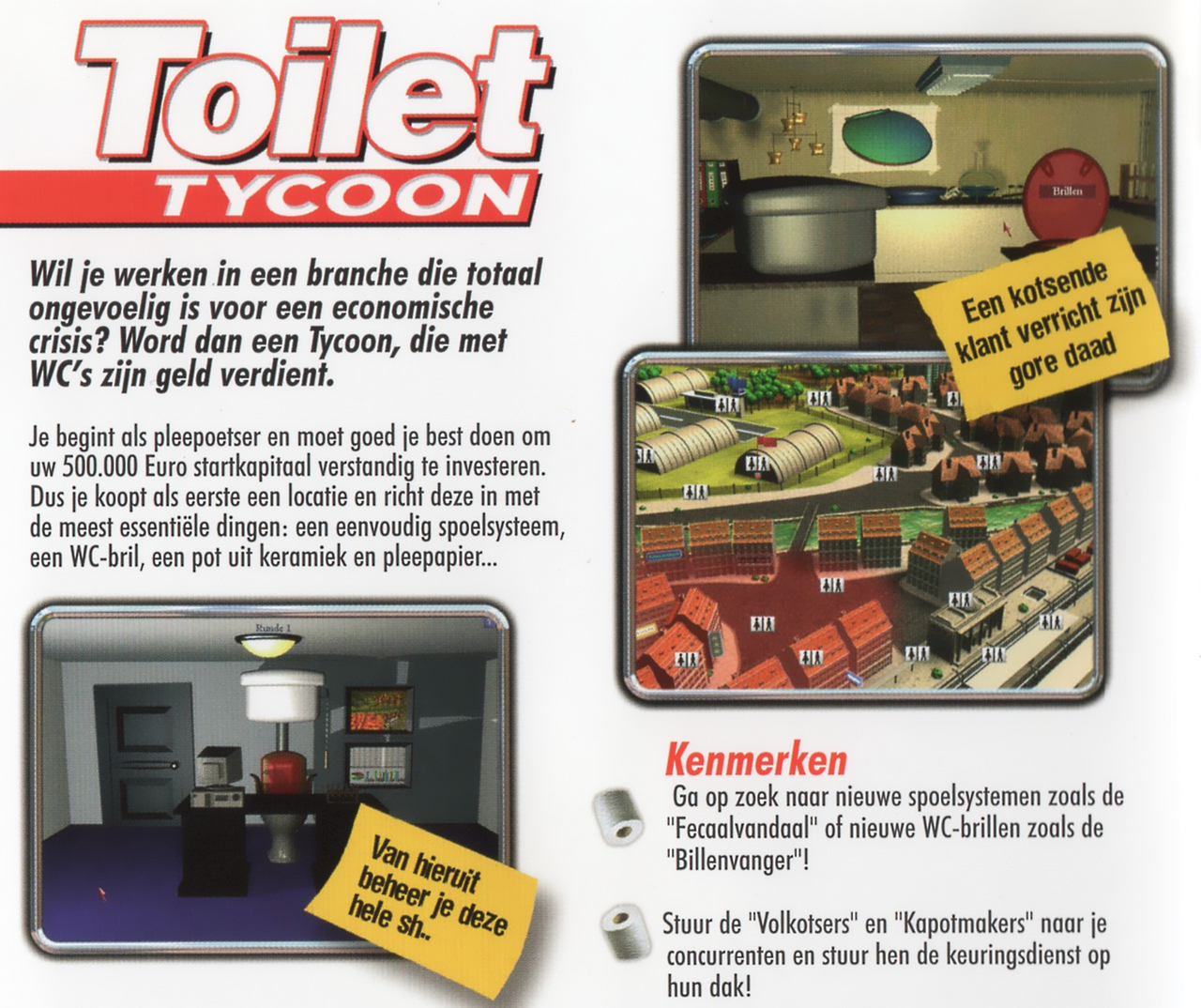Toilet Tycoon's slightly less gross back cover