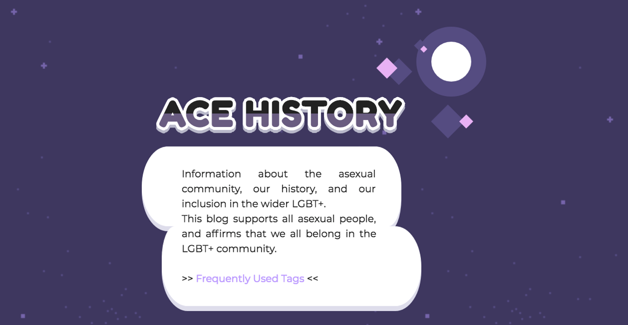 Screenshot of Historically Ace homepage