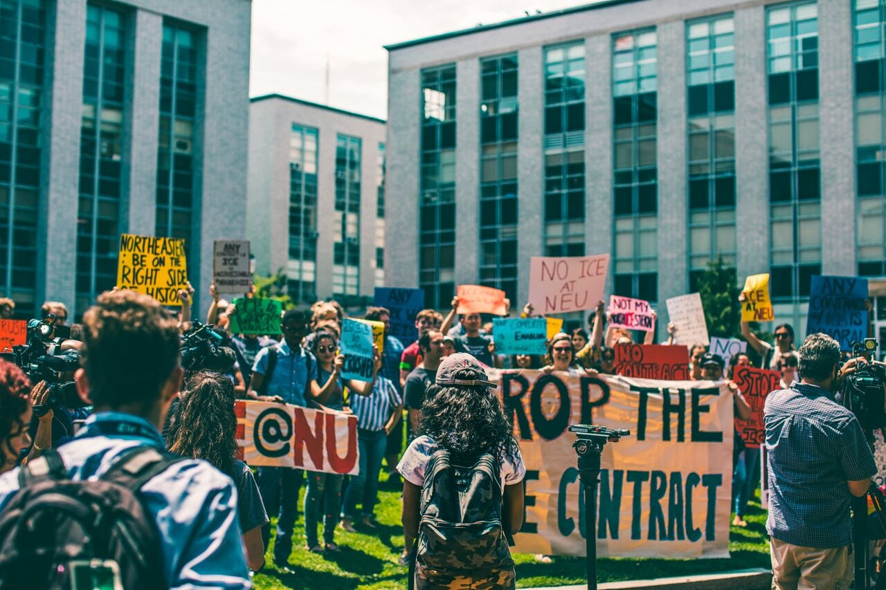 Northeastern protest, July 11