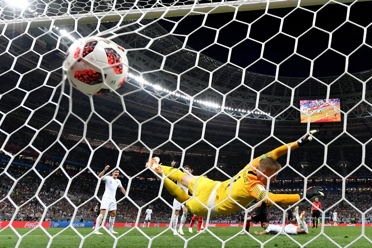 Croatia scores on England.