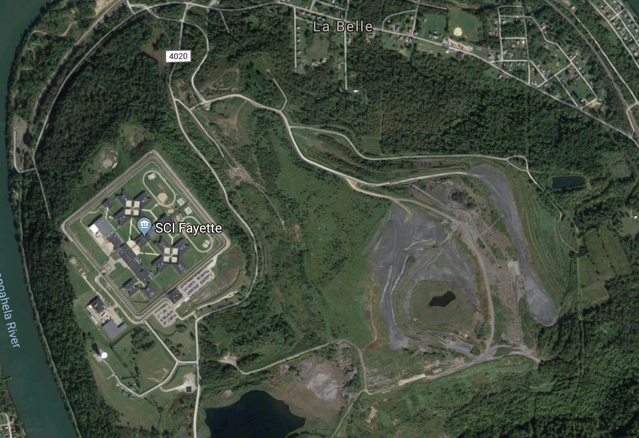 SCI Fayette is located beside a coal mine
