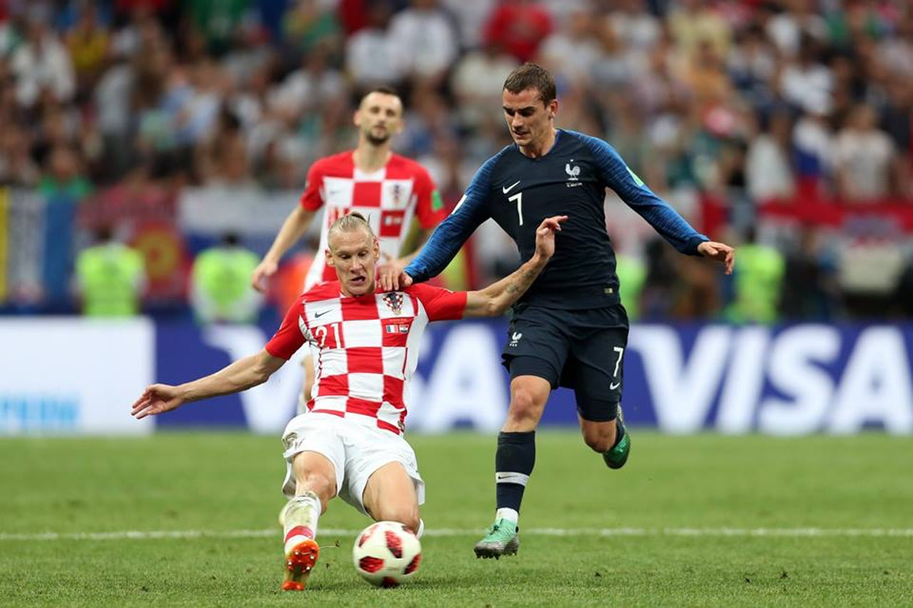 French and Croatian lads at it, in the World Cup final.