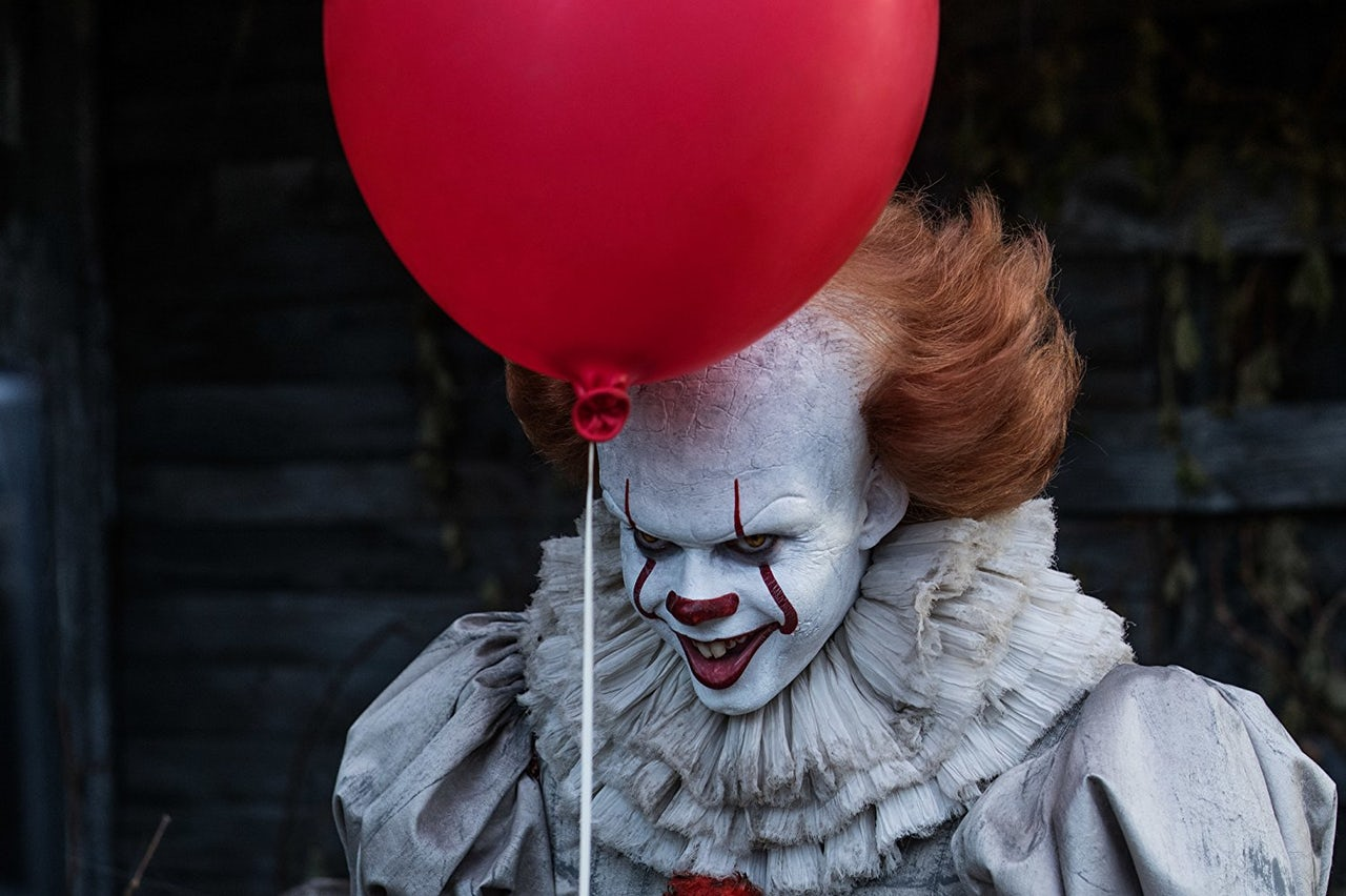 The frankly horrifying Pennywise the Clown from the 2018 It remake.
