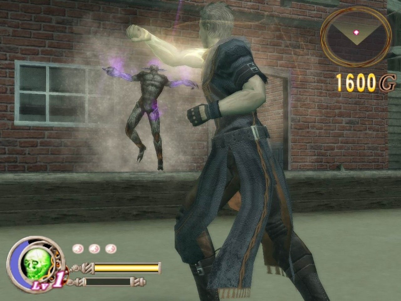 Gameplay from God Hand.