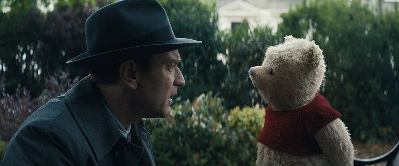 Christopher Robin, face-to-face with his lost childhood.