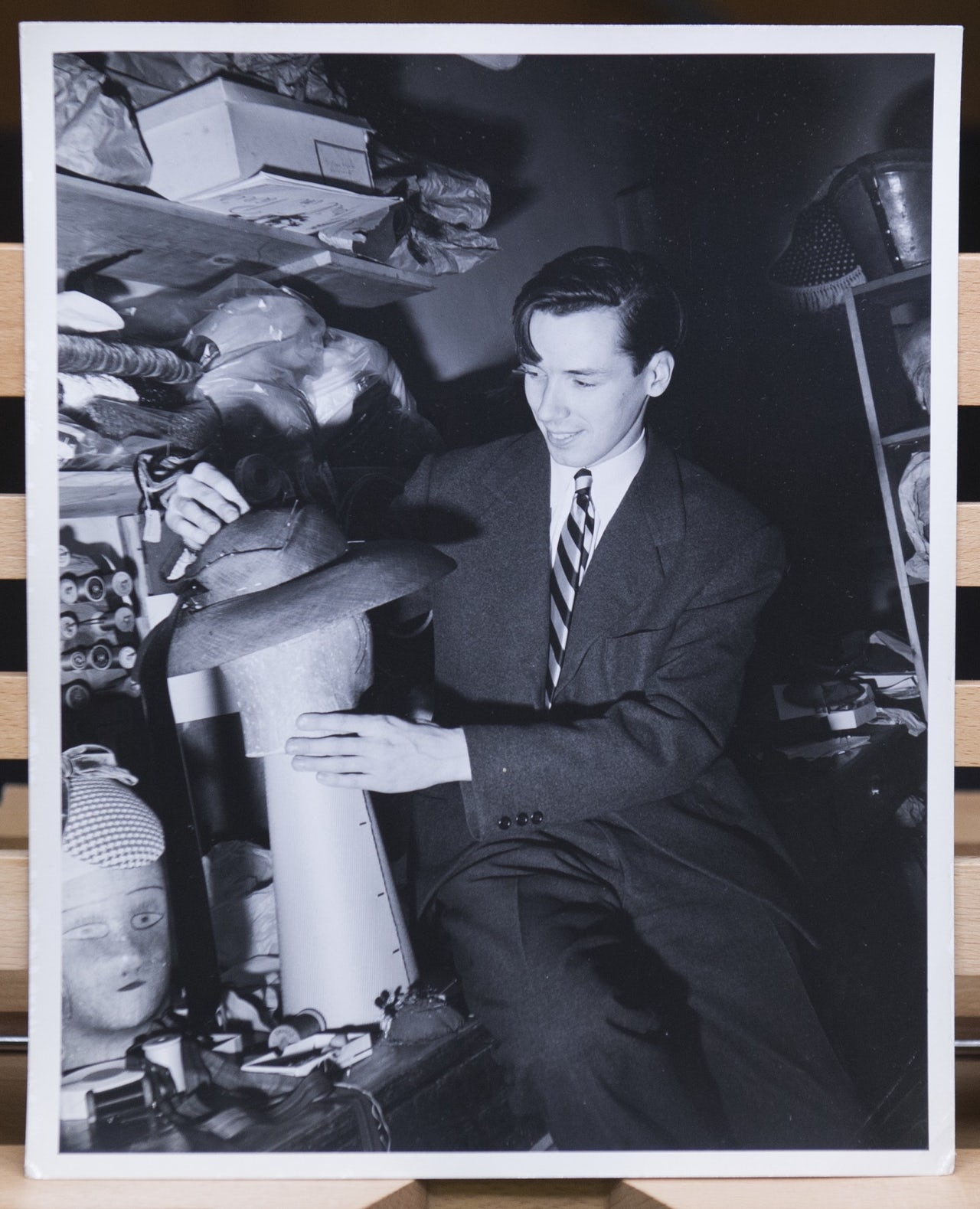 Cunningham during his time as a milliner.