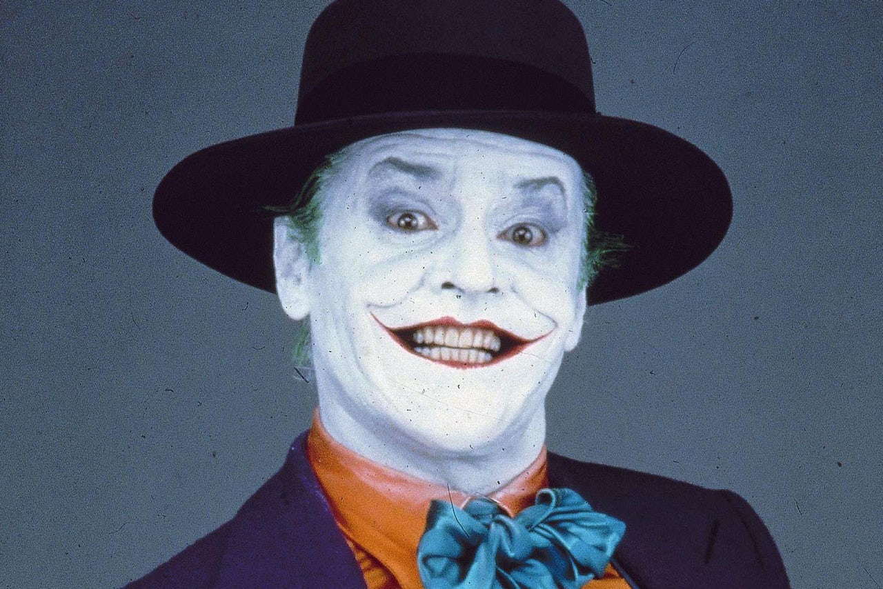 """Christensen: Jack Nicholson's makeup design is clean, clear-cut, specific. Historic traditionalists still say the """"whiteface clown"""" is the one that takes ..."""