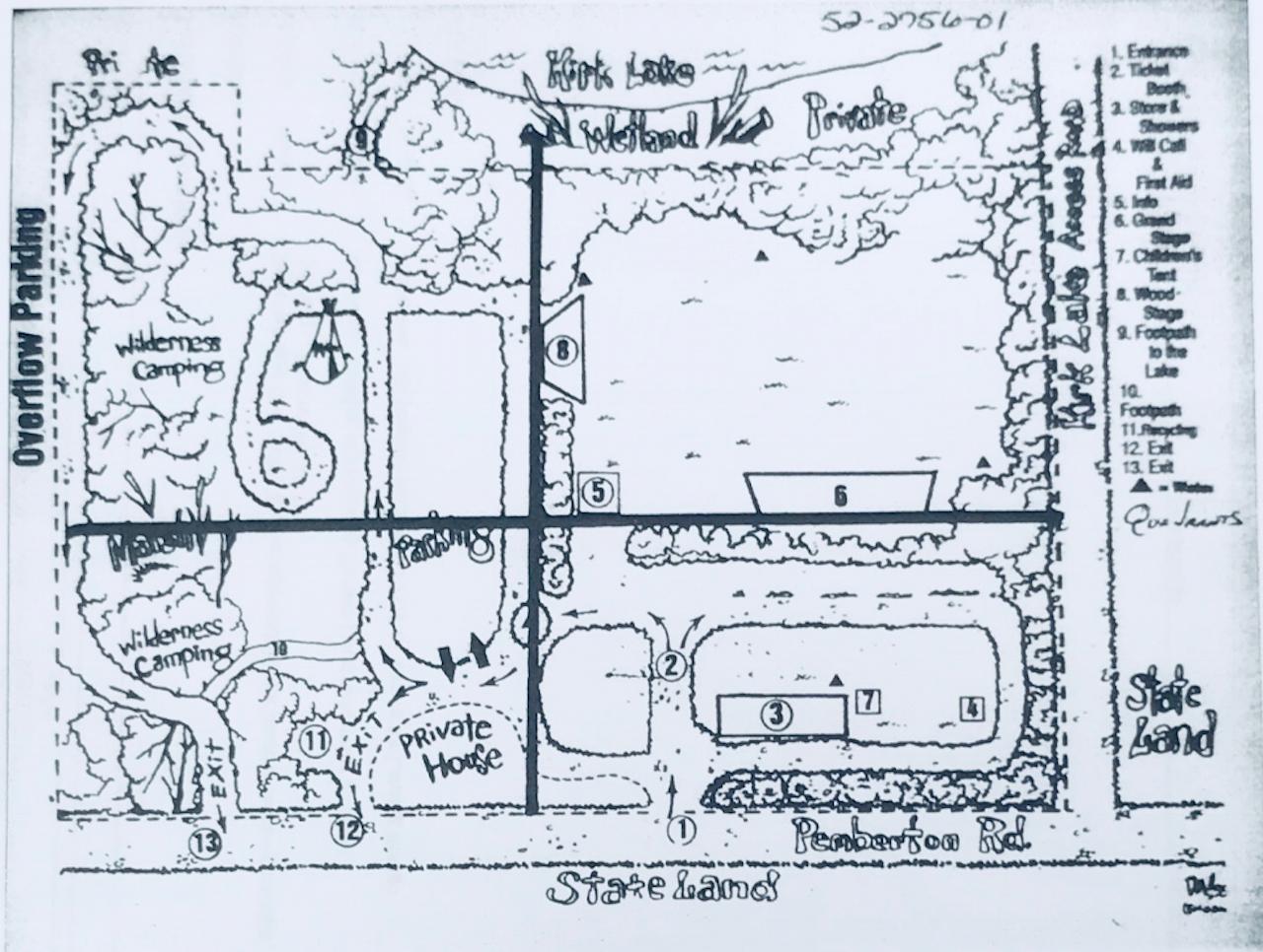 A map of Rainbow Farm.