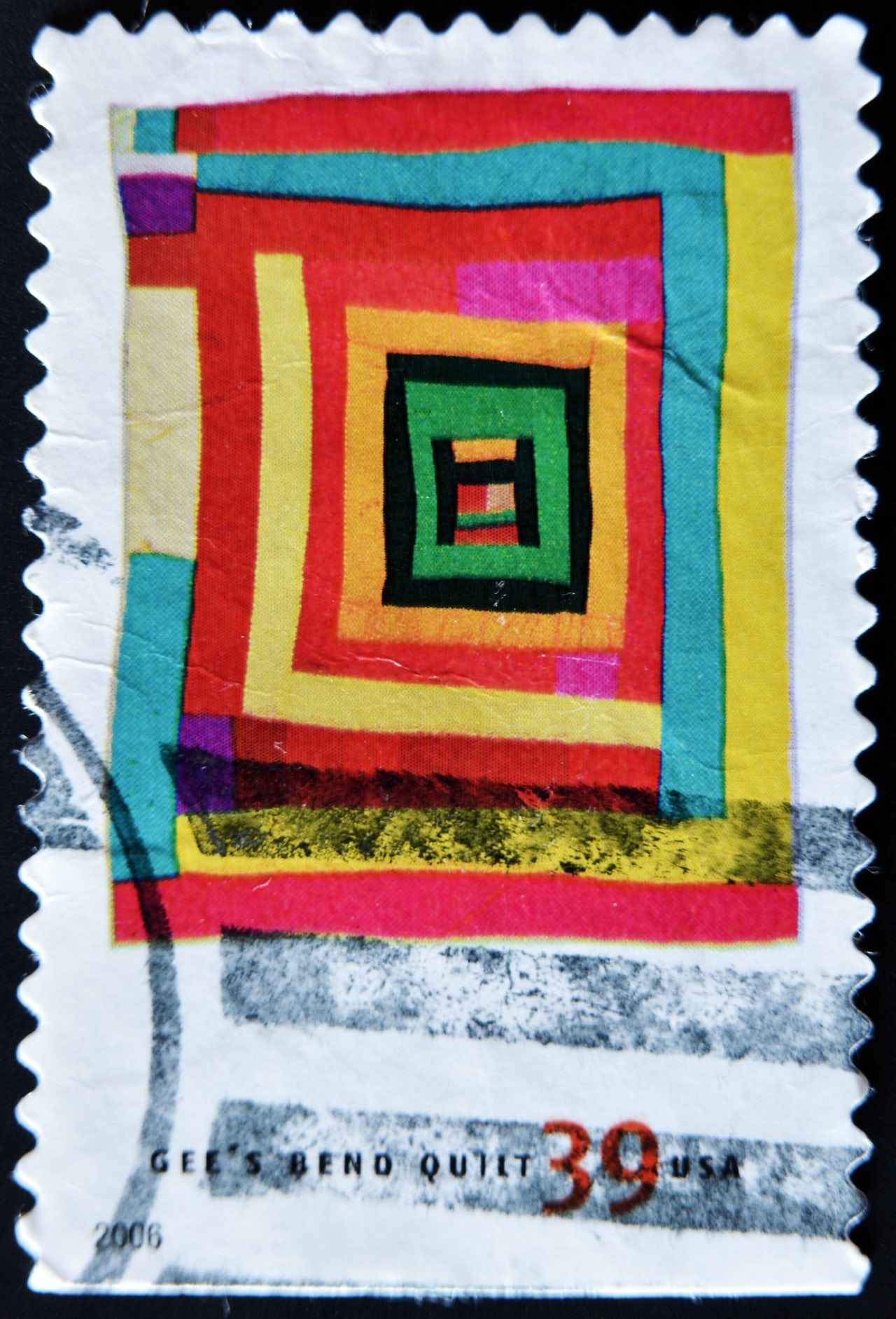 The quilts of Gee's Bend were featured in a 2006 stamp collection.