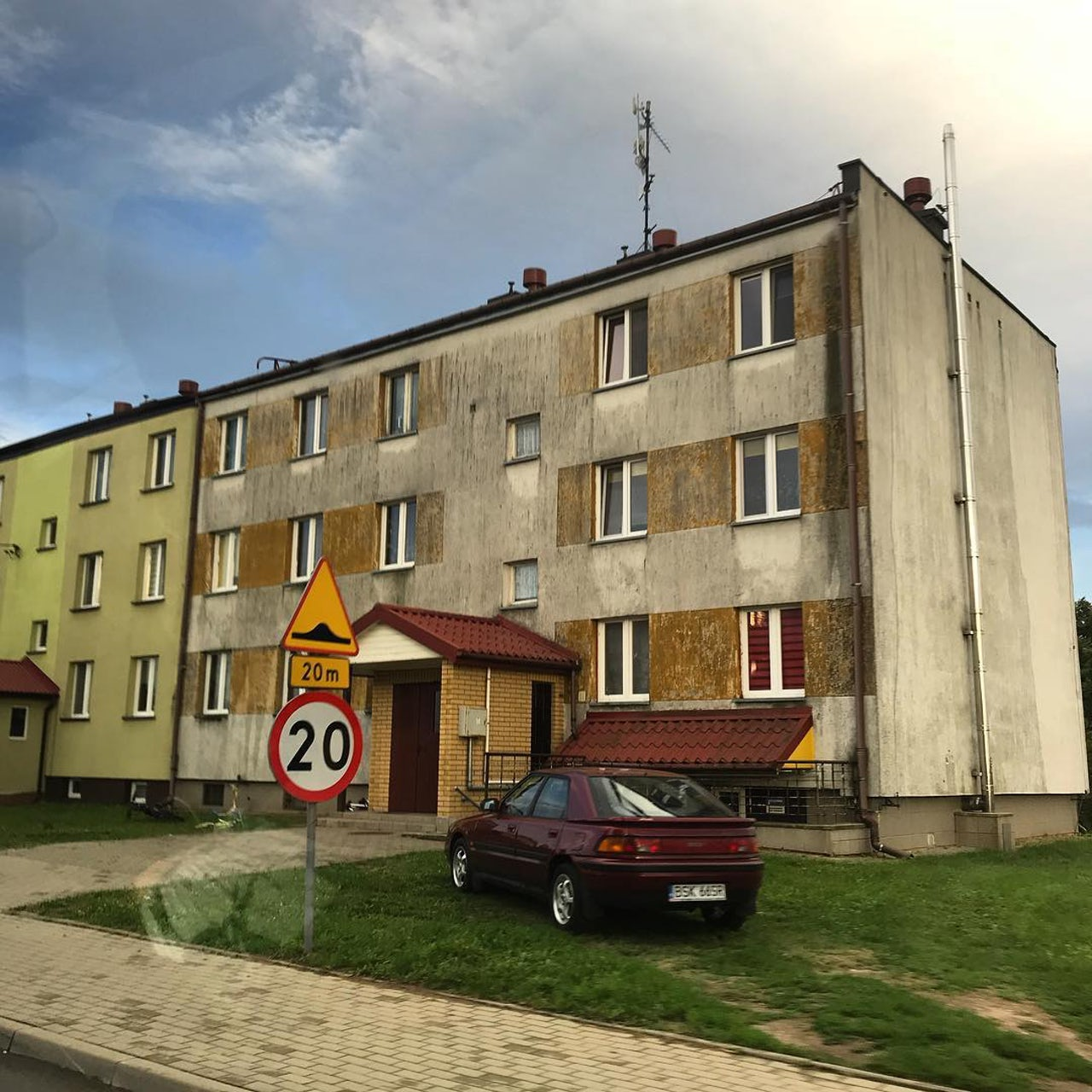 A typical Soviet-era apartment building in eastern Poland, where support for Law & Justice is strongest.