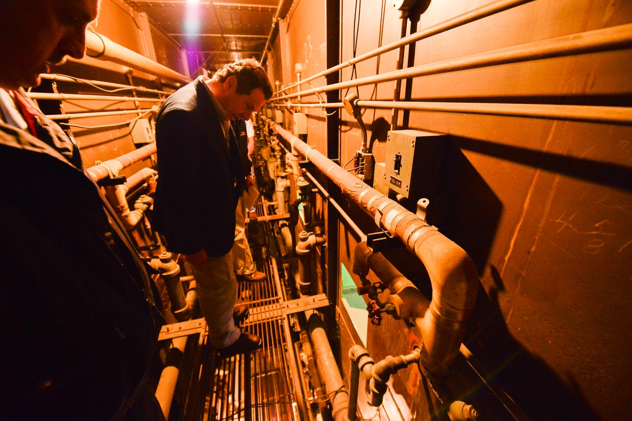 Gov. Andrew Cuomo toured Sweat and Matt's escape route.