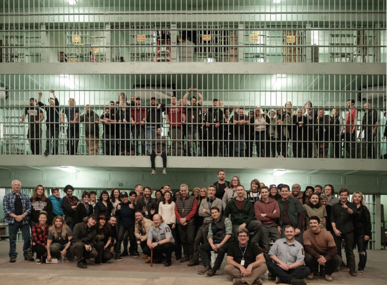 The cast and crew of Escape at Dannemora.