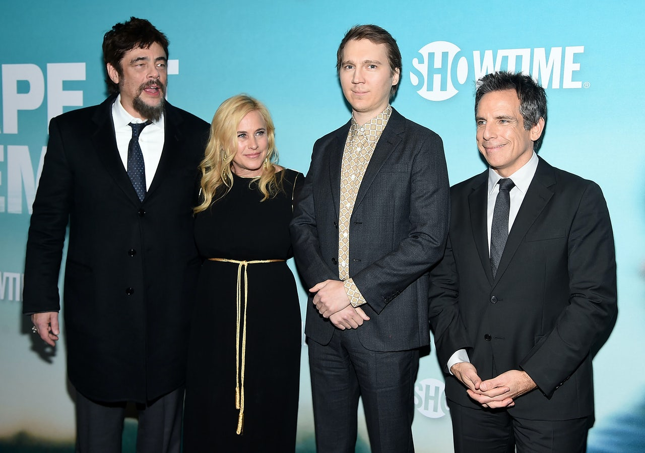 Benico Del Toro, Patricia Arquette, Paul Dano, and Ben Stiller at the Escape At Dannemora premiere on November 14.