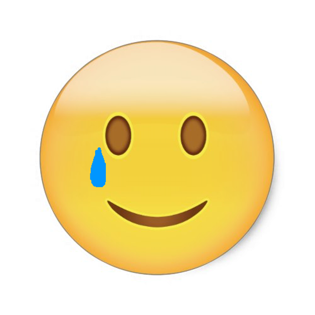 "An artist's rendering of a theoretical ""cry"" emoji."