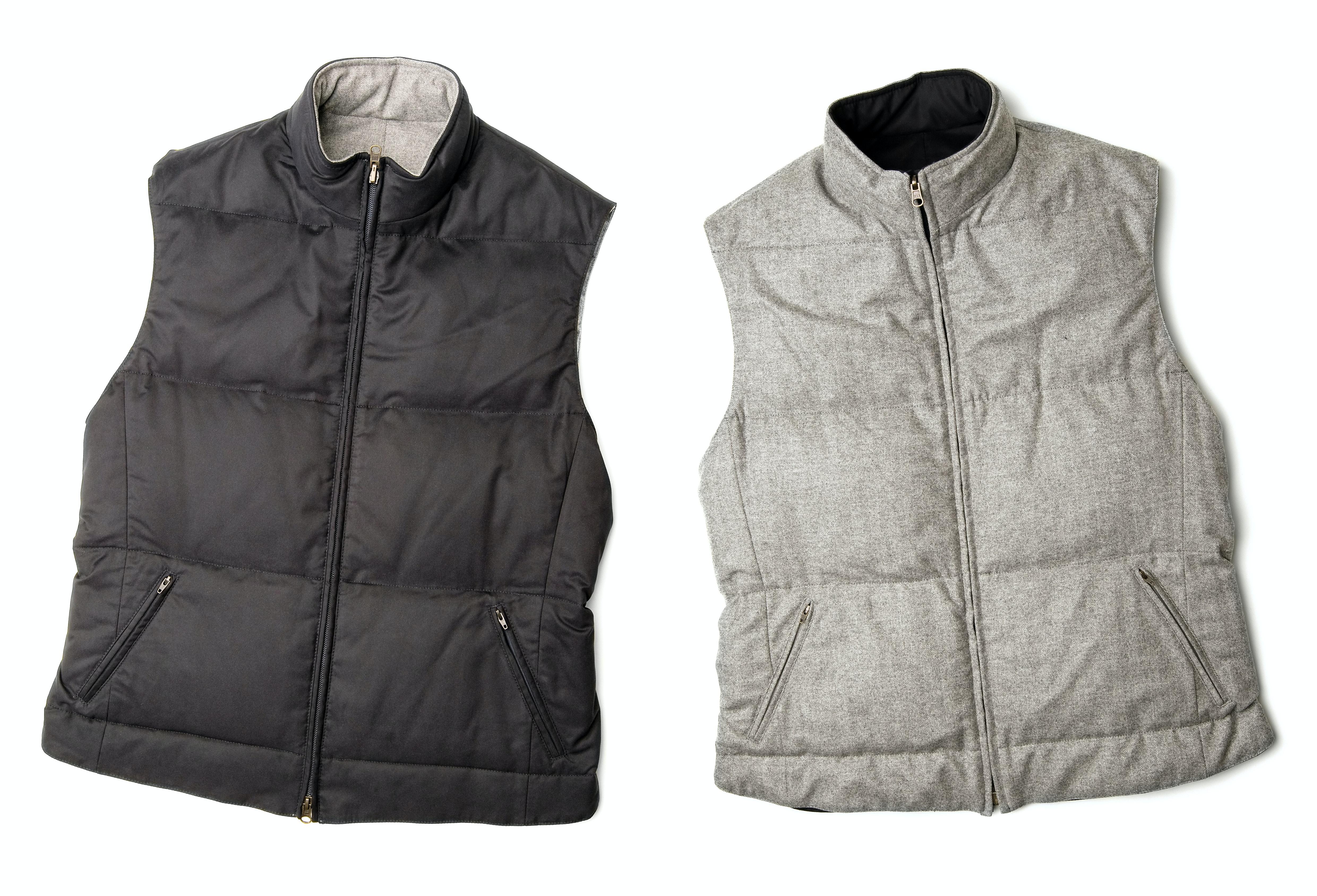 The man in the grey fleece vest