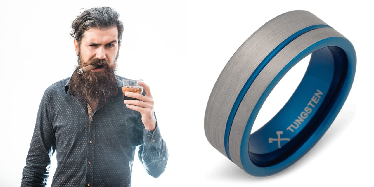 Manly wedding rings for tough guys who are dudes