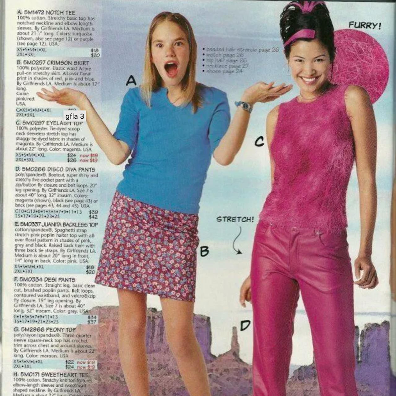 Advertisement from Girlfriends L.A. catalog.
