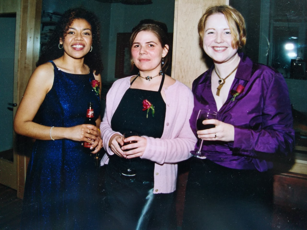 The author (middle) at her Y2K gala.